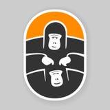 Gorila do primata do símbolo Imagens de Stock Royalty Free