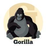 Gorila dos desenhos animados de ABC Foto de Stock Royalty Free