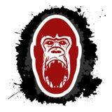 Gorila enojado Fotografía de archivo libre de regalías