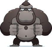 Gorila irritado Foto de Stock Royalty Free