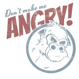 Gorila irritado dos desenhos animados Imagem de Stock