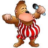 Gorila met microfoon Royalty-vrije Stock Fotografie