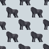 Gorila monkey rare animal vector seamless pattern macaque nature primate character wild zoo ape chimpanzee. Gorila monkey rare animal vector seamless pattern Stock Photo