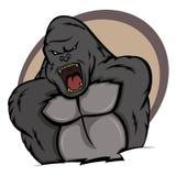 Gorila na raiva ilustração do vetor