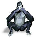 Gorila preto ilustração royalty free