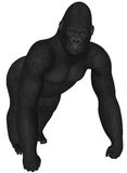 Gorilla. 3D rendered African gorilla on white background isolated Royalty Free Stock Images