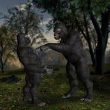 Gorilla Accuse Accusing In the Jungle Illustration Stock Photo