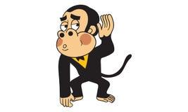 Gorilla action vector Royalty Free Stock Photo