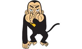 Gorilla action vector. Drawing, monkey action Royalty Free Stock Image