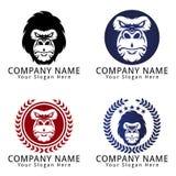 Gorilla Angry Concept Logo Fotografía de archivo