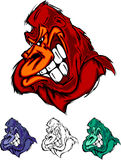 Gorilla Ape Mascot Logo Royalty Free Stock Photo