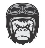 Gorilla Bikers Helmet. Suitable for logo and icon, bikers, garage, riders, motorcycle club, print t-shirt, embelm, and others stock illustration