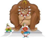 Gorilla bodyguard / bully Stock Images