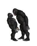 Gorilla Bully Bullying Illustration Royalty Free Stock Photo