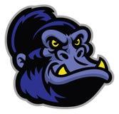 Gorilla cartoon head Royalty Free Stock Photo