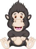 Gorilla cartoon sitting Royalty Free Stock Image