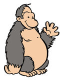 Gorilla. A gorilla clip art image Royalty Free Stock Photo