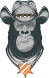 Gorilla - cowboy Stock Photo