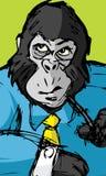 Gorilla dell'ufficio Fotografia Stock Libera da Diritti