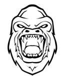 Gorilla face. Illustrator desain .eps 10 Stock Photography