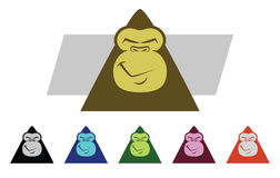 Gorilla Faces Royalty Free Stock Photography