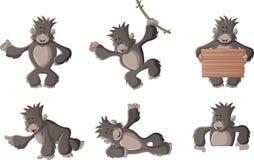 Gorilla felice del fumetto divertente Immagine Stock Libera da Diritti