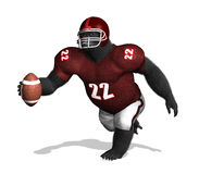 Gorilla Football Player Fotos de Stock Royalty Free