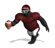 Gorilla Football Player (without numbers) Stock Photography