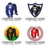 Gorilla Full Body Concept Logo Stock Photography