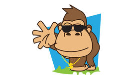 Gorilla Funky. Illustration of brown gorilla funky Stock Image