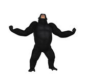 Gorilla Growl Aggression Illustration Royalty Free Stock Photos