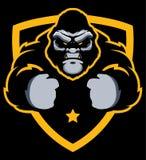Gorilla Gym Mascot stock de ilustración
