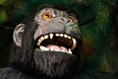 Gorilla in a haunted house Stock Photos