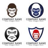 Gorilla Head Concept Logo Imagen de archivo