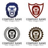Gorilla Head Concept Logo Royalty Free Stock Images