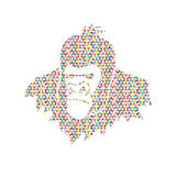 Gorilla Head. Designed using colorful mosaic pattern graphic vector Stock Photo