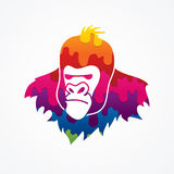 Gorilla Head. Designed using melting colors graphic vector Royalty Free Stock Images