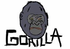 Gorilla head Royalty Free Stock Photos