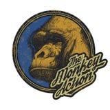 Gorilla Head Logo Mascot Emblem Stock Images