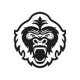 Gorilla head logo for sport club or team. Animal mascot logotype. Template. Vector illustration. Flat style Stock Photo