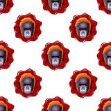 Gorilla head seamless pattern. Gorilla head on white background seamless pattern Stock Images