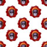 Gorilla head seamless pattern. Stock Images