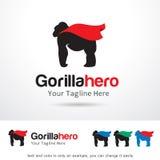 Gorilla Hero Logo Template Design vektor Royaltyfri Fotografi