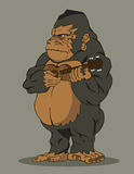 Gorilla het spelen gitaar Stock Illustratie