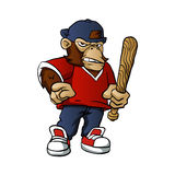 Gorilla Holding Softball Hitting Stick Stock Photography