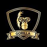 gorilla hoofd vectorembleem voor sportontwerp royalty-vrije illustratie