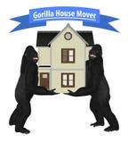Gorilla House Home Mover Illustration Immagine Stock Libera da Diritti