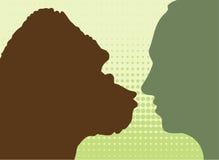 Gorilla & human Stock Image