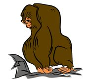 Gorilla illustration vector, eps Royalty Free Stock Images