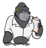 Gorilla lab suit. Cartoon vector outline illustration of a gorilla lab suit Royalty Free Stock Photography